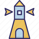 historic, landmark, lighthouse, monument icon