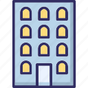 buildings, business centre, modern buildings, modern office icon