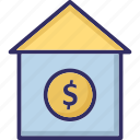 expensive home, home, house for sale, house value icon