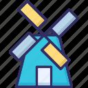aerogenerator, mill, tower, windmill icon