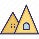 canopy, adventure, camp house, tourist tent icon