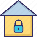 home, lock, open, real icon