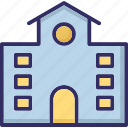 building, gallery, library, museum icon