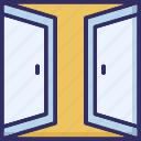 car garage, entrance, garage door, home garage icon