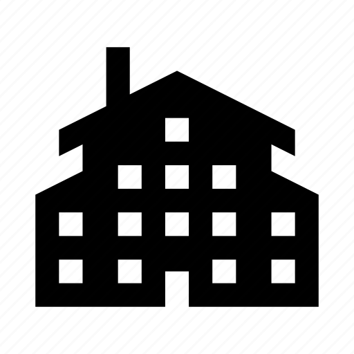 apartments, building, home, house, place, windows icon