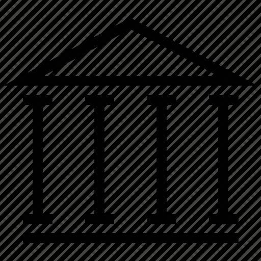 building, court, court building, court of law, courthouse, institute, law court icon