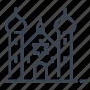 synagogue, judaism, religion, building icon