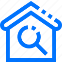buildings, estate, find, house, real, scan, search icon