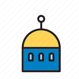 architecture, building, church, construction, dome icon