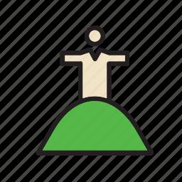 brazil, christ, jesus, landmark, monument, redeemer, rio de janeiro icon