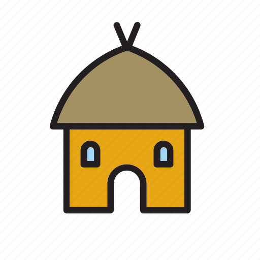 architecture, building, construction, house, mud icon