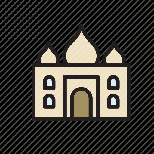 architecture, building, construction, landmark, monument, taj mahal, temple icon
