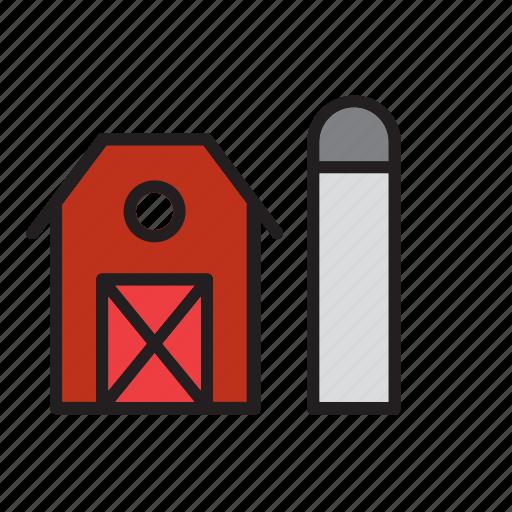 architecture, barn, building, construction, farm, tank icon
