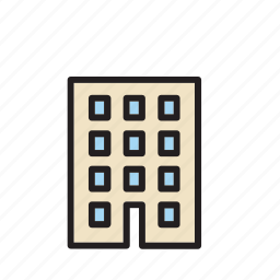 apartment, architecture, building, construction, office icon