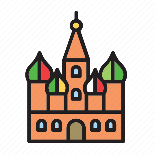 building, cathedral, landmark, moscow, red square, russia, saint basil icon