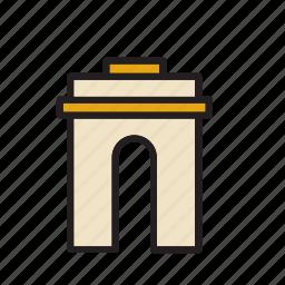 arch, architecture, construction, landmark, monument, triumph icon