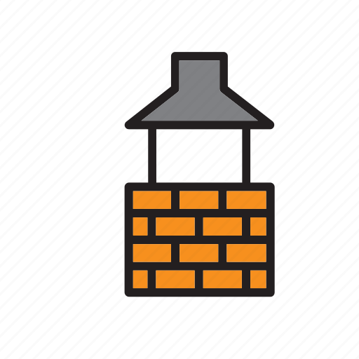 barbecue, bbq, block, brick, bricks, construction, well icon