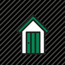 architecture, beach, building, cabin, construction, hut icon