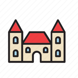 architecture, building, castle, construction, house icon