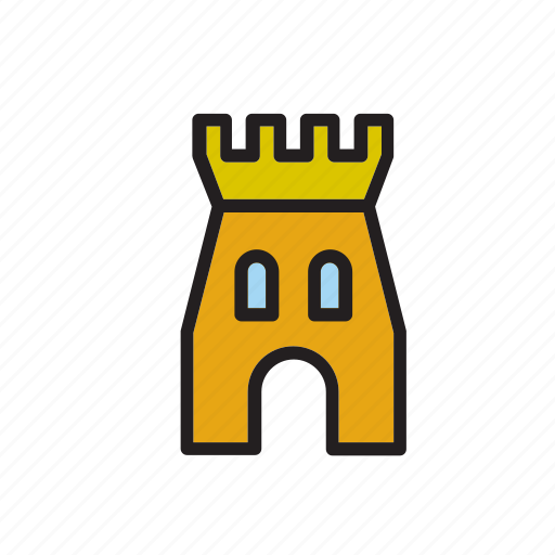 architecture, building, castle, construction, tower icon