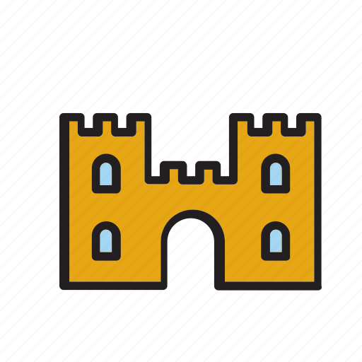 architecture, building, castle, construction, tower icon