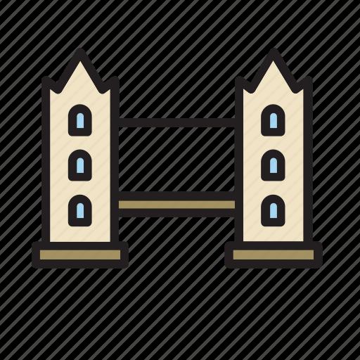 architecture, bridge, construction, landmark, london, monument, tower icon