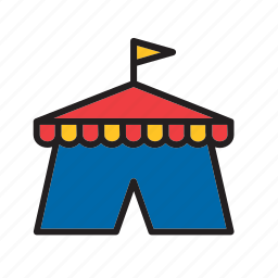 architecture, big top, building, circus, construction, marquee, tent icon