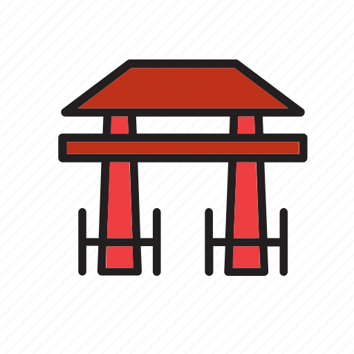 architecture, door, japan, landmark, monument, tori, torii icon