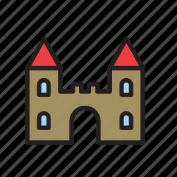 architecture, building, castle, construction icon