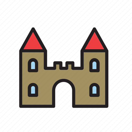 architecture, building, castle, construction icon