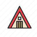 architecture, building, cabin, construction icon