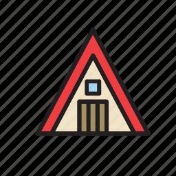 architecture, building, cabin, construction icon
