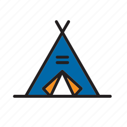 architecture, building, construction, tent, wigwam icon