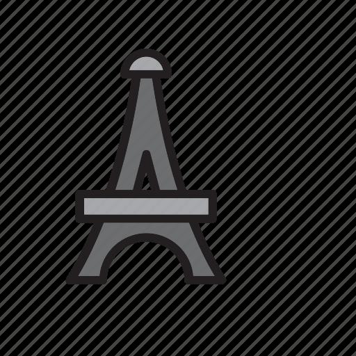 architecture, construction, eiffel, landmark, monument, paris, tower icon