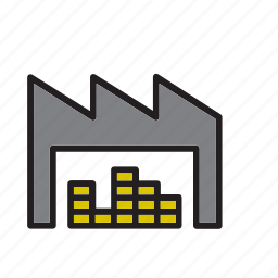 building, cargo, freight, garage, logistics, storage, warehouse icon