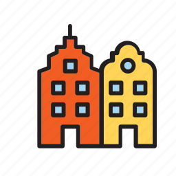 amsterdam, architecture, building, construction, house icon