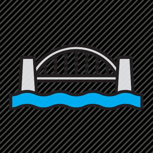 architecture, bridge, building, construction, landmark icon