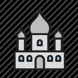 architecture, building, construction, india, religion, taj mahal, temple icon