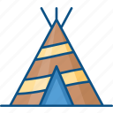 camp, night, tant, tracking, village icon icon