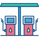 building, energy, gas, oil, petrol station icon icon