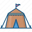 carnival, circus, circus tent, fairground, fun icon icon