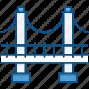 bridge, build, construction, engineer, engineering, suspension bridge icon icon