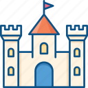 bastion, castle, citadel, fortress, medieval, palace, tower icon icon