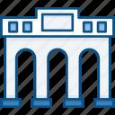 arc, building, entrace, landmarks, library, museum, triumph icon