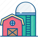 agriculture, barn, crop, farm, farming, silo, storehouse icon icon