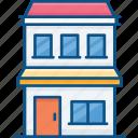 apartment, building, city, city shop, real estate, shopping mall, urban icon icon