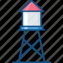 farm, farming, reservoir, storage, tank, tower, water storage tank icon icon