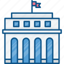 bank, banking, building, business, city, finance, hall icon icon