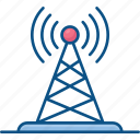 broadcast, internet, network, signal, signal antenna icon, tower, transmission icon