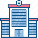 cross, doctor, health, hospital, medical building icon icon